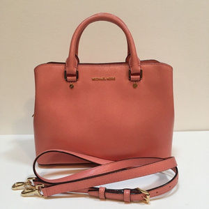 Michael Kors Savannah Medium Satchel Peach